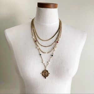 Free People Medallion layered necklace
